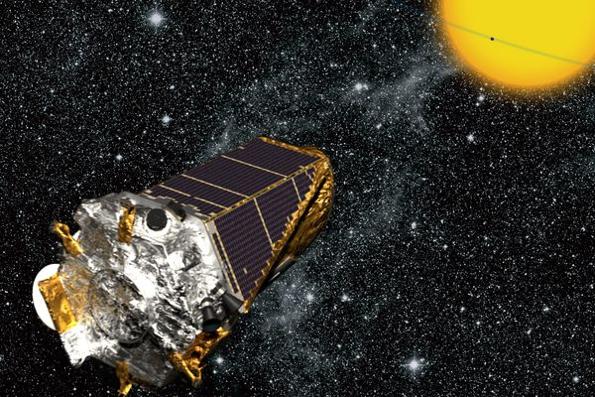 Representación artística de la nave espacial Kepler.
