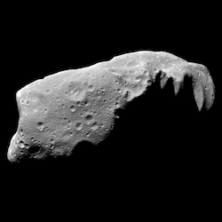 a close up view of the asteroid Ida