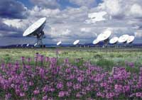 Photo of Very Large Array of radio telescopes.