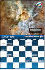 Thumbnail image of August calendar.