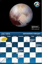 NASA Space Place Calendar :: NASA Space Place