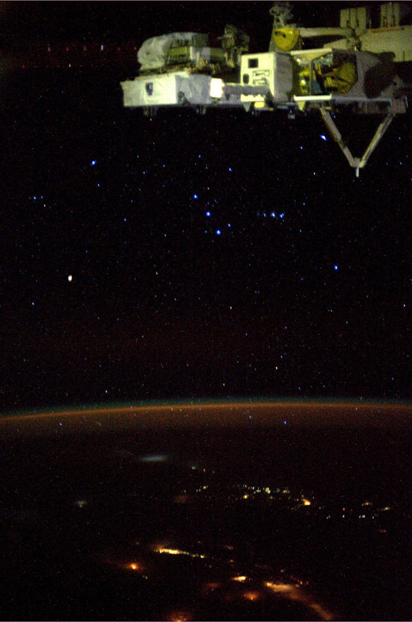 Photo of the constellation Orion taken by NASA astronaut Karen Nyberg aboard the International Space Station.