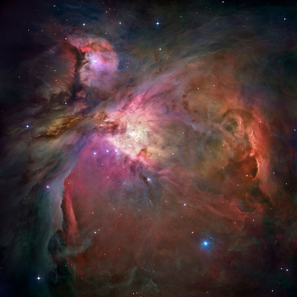 Image of the Orion nebula captured by the Hubble Space Telescope.