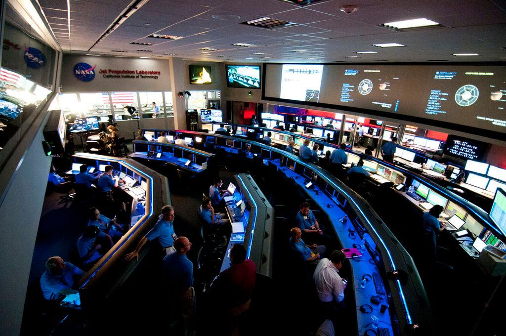 a photo of the Space Flight Operations Facility at NASA's Jet Propulsion Laboratory