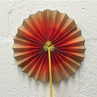 a photograph of a paper fan in colorful layers