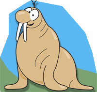 Cartoon walrus.