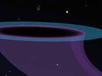 cartoon of a black hole