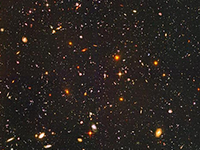 Hubble image showing many galaxies