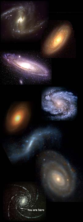 Montage of galaxies