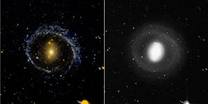 Two images of galaxy.