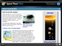 Screen shot with article presentation on Space Place Prime.