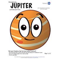 a thumbnail image of a Jupiter mask activity sheet