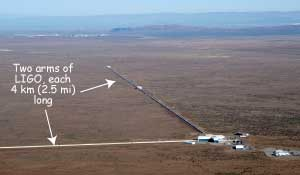 Aerial view of the LIGO at Hanford, Washington.