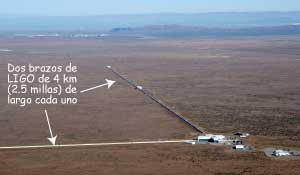 Vista aérea del LIGO de Hanford, Washington.
