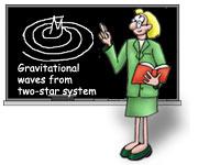 Maestro de la historieta explica las ondas gravitacionales en la pizarra