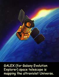 GALEX (for Galaxy Evolution Explorer) space telescope ismapping the ultraviolet Universe.