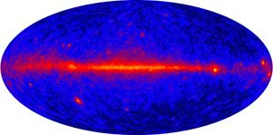 Gamma-ray view of entire universe.