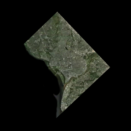 A satellite view of Florida