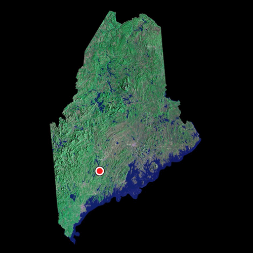 A satellite view of Maine
