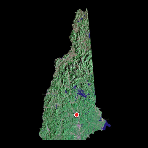 A satellite view of New Hampshire
