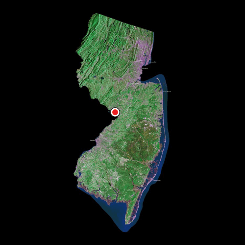 A satellite view of New Jersey.