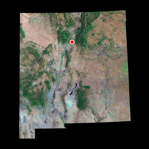 A satellite view of New Mexico