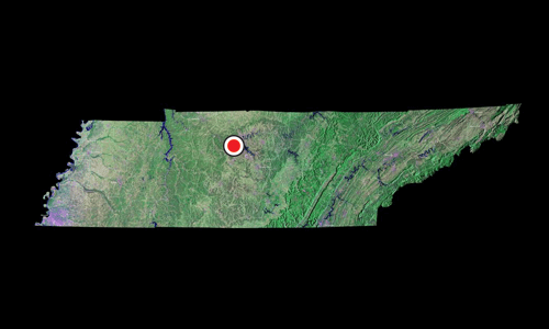 A satellite view of Tennessee