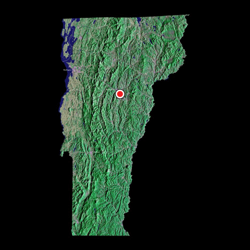 A satellite view of Vermont