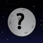 an illustration of a planet with a question mark on the surface