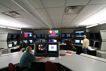 Inside the Space Weather Prediction Center.