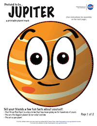 thumbnail image of first page of Jupiter planet mask activity