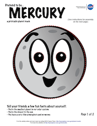 thumbnail image of first page of Mercury planet mask activity