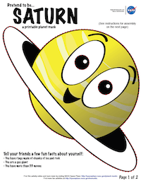 thumbnail image of first page of Saturn planet mask activity