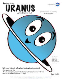thumbnail image of first page of Uranus planet mask activity