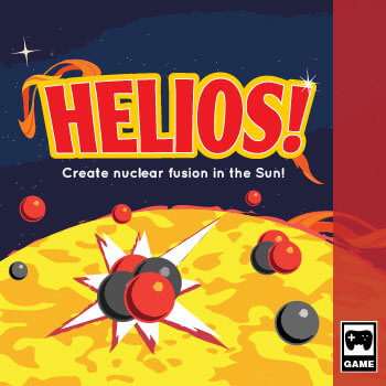 Illustration of a gamebox cover for the game Helios.