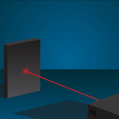 illustration of a red laser