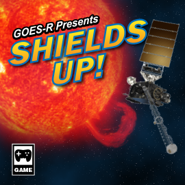 illustration of a game box cover for the game Shields Up