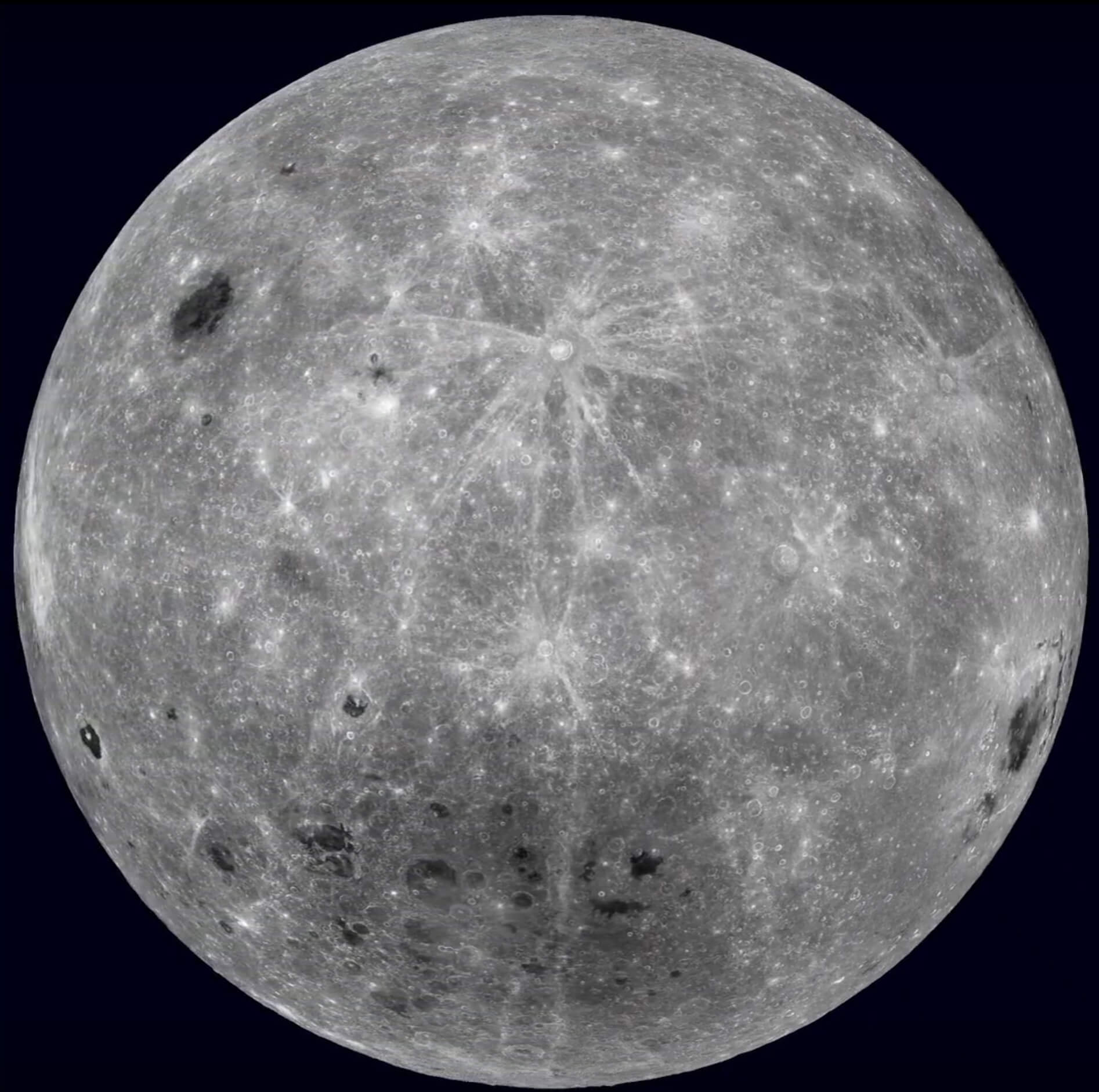 Image of the far side of the Moon