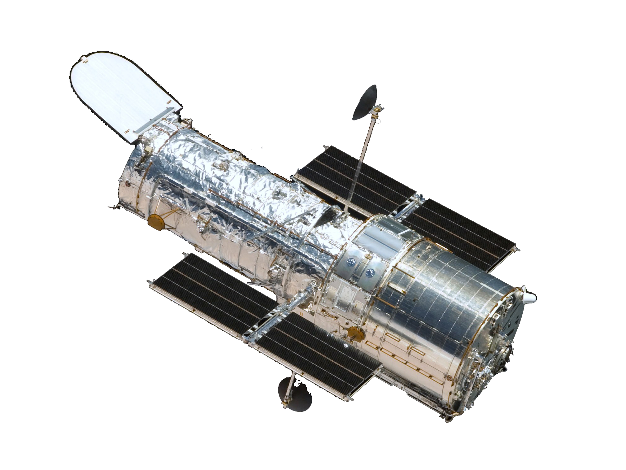 a photo of the Hubble Space Telescope spacecraft