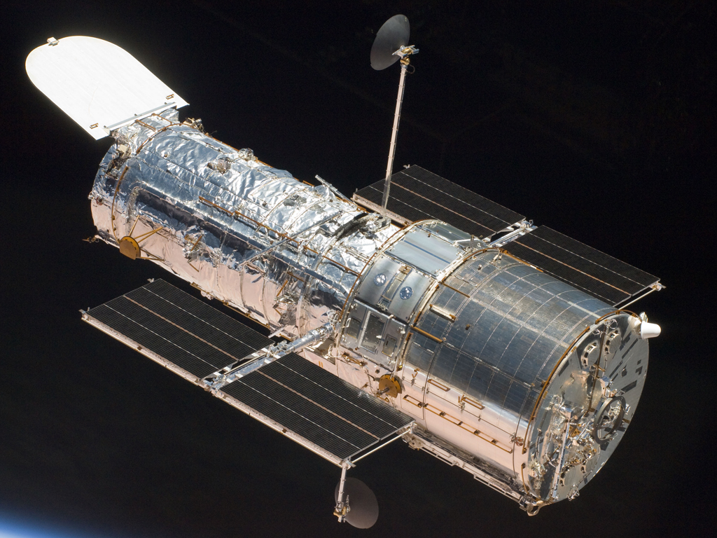 computer-generated image of the Hubble Telescope.