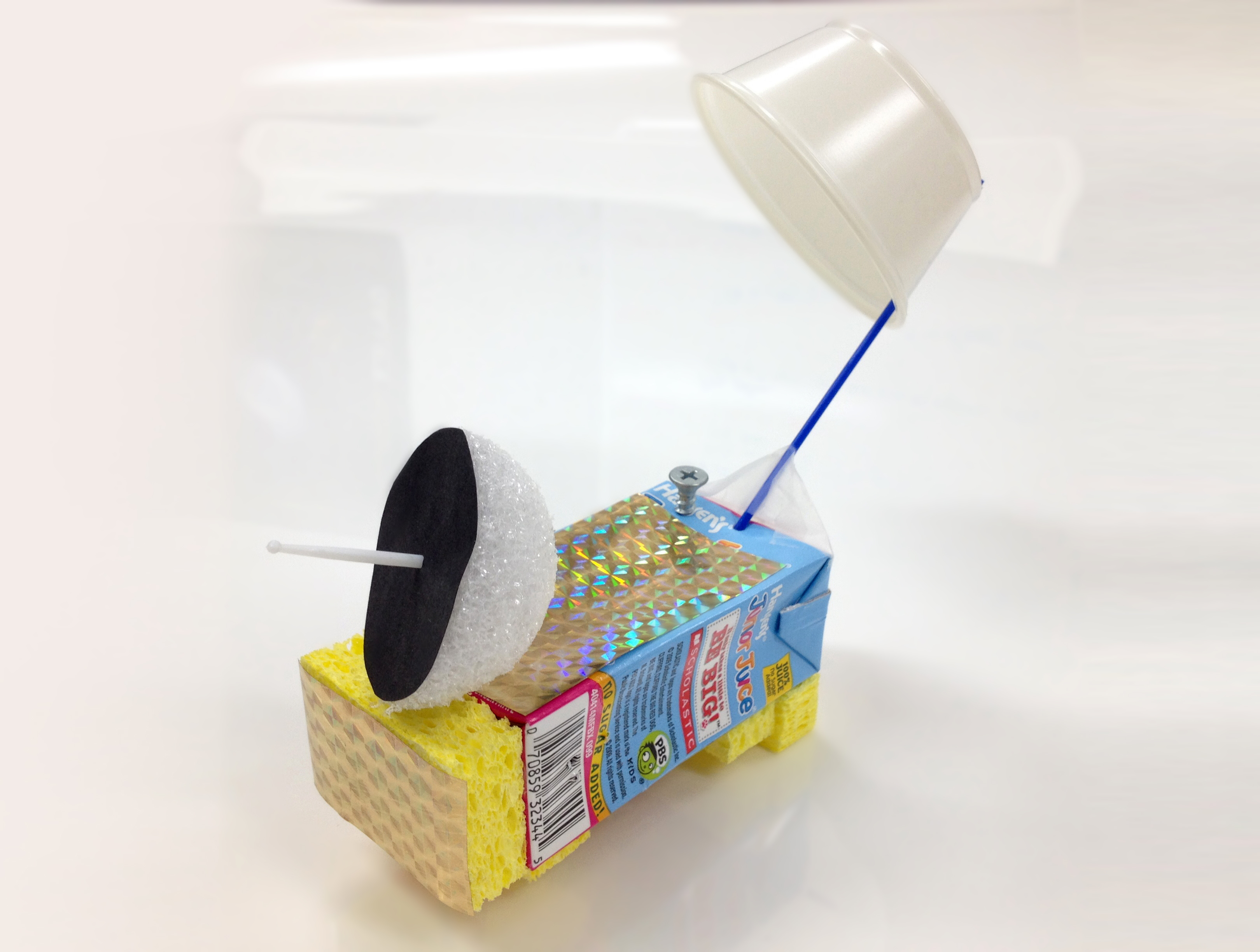 a model satellite built with described supplies.