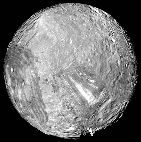 NASA image of Miranda
