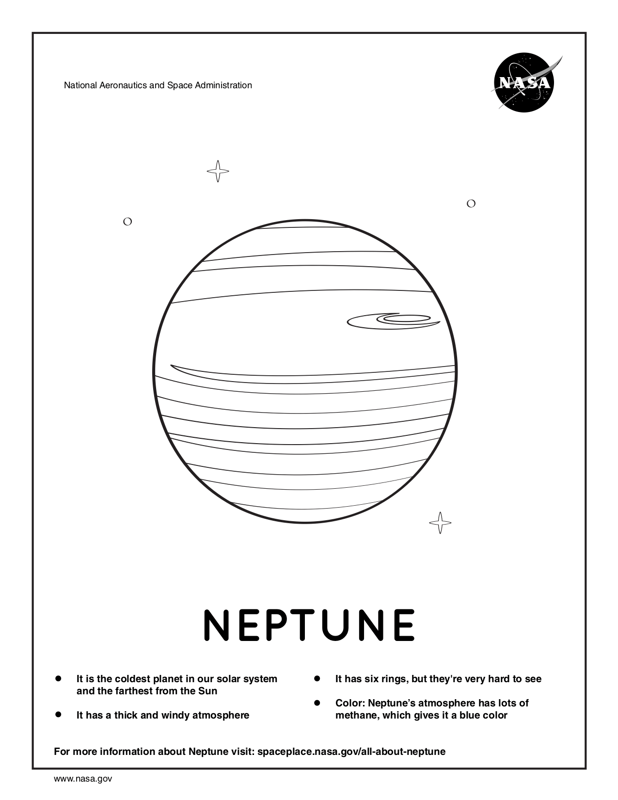 Coloring page for Neptune.