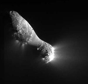 Close-up view of Comet Hartley 2.