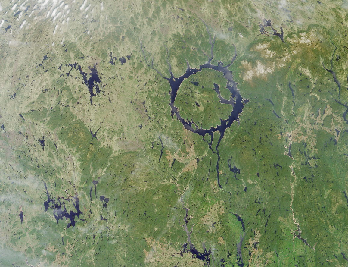 Lake Manicouagan viewed from space.