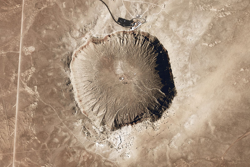 ariel photograph of Meteor Crater
