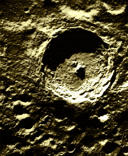 ariel photograph of Tycho crater on the moon
