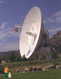 70-meter DSN antenna at Madrid complex