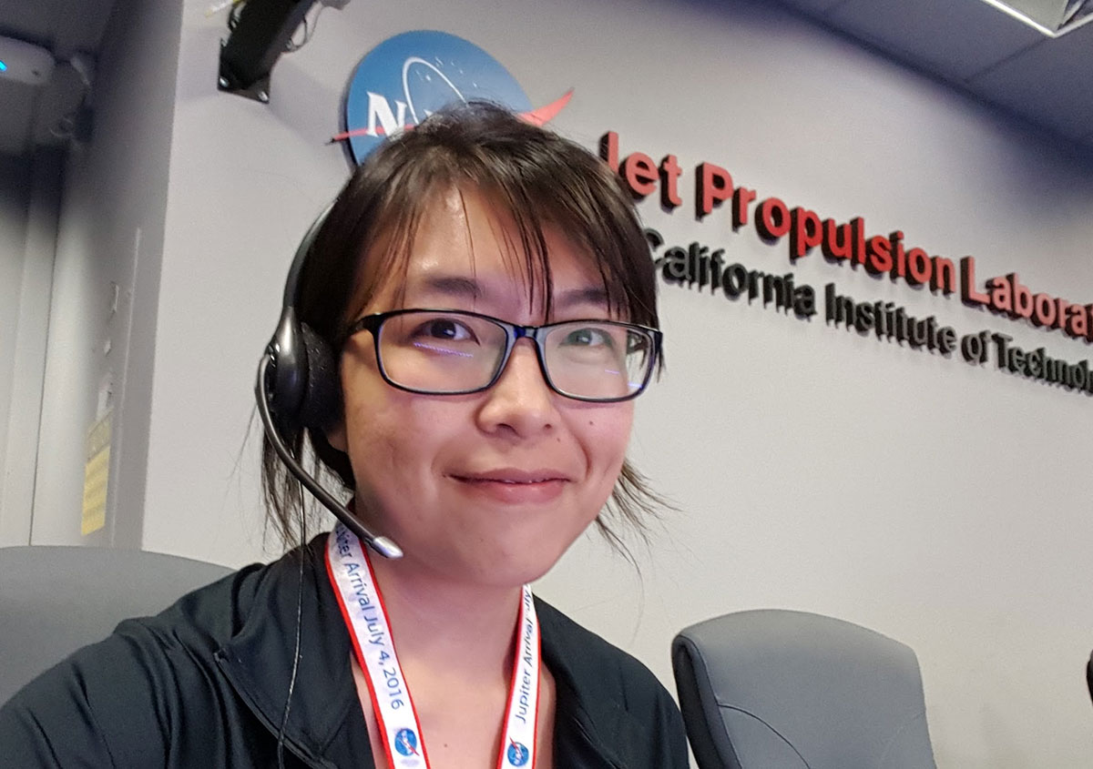 Charlene Valerio as the test conductor on the Juno mission to Jupiter.