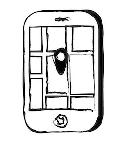 a drawing of a smart phone